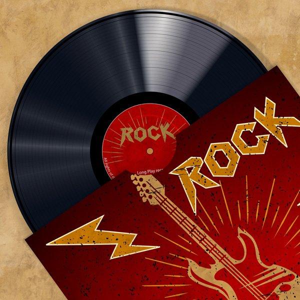 Cuadro canvas vinyl club rock