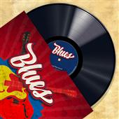 Cuadro canvas vinyl club blues