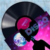 Cuadro canvas vinyl club disco