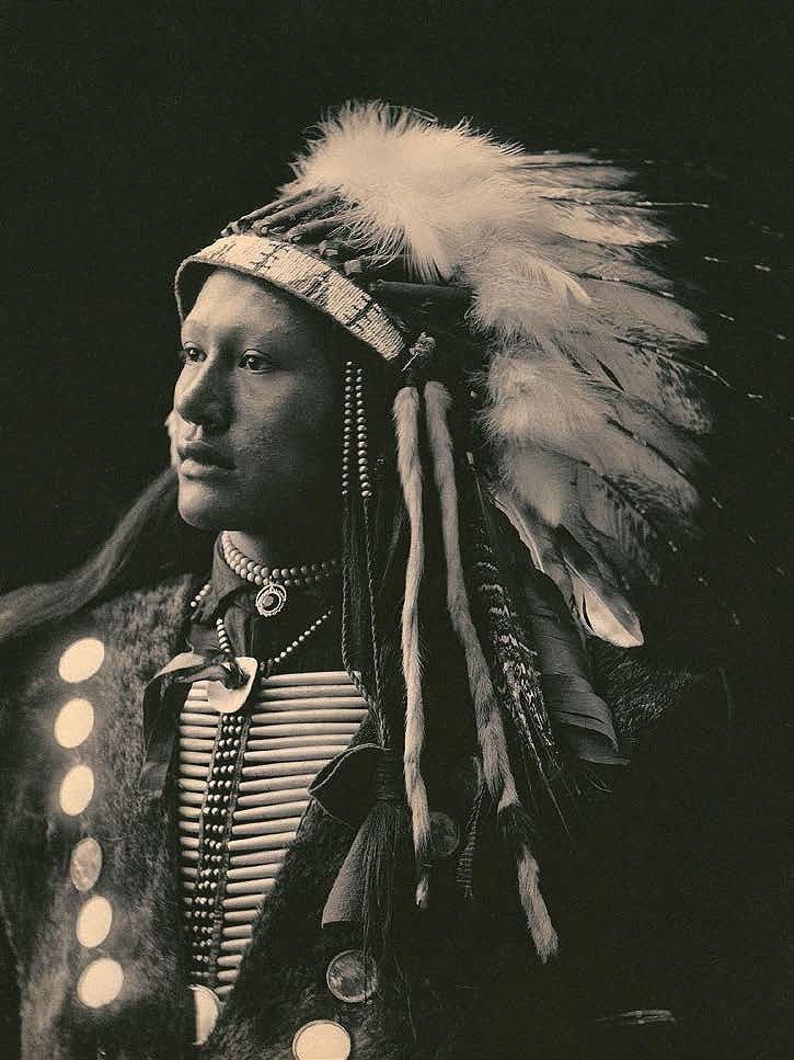 Cuadro canvas john hollow horn bear sioux 1898