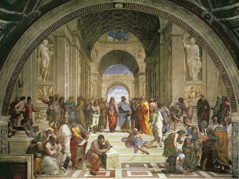 Cuadro canvas raffaello scuola di Atene
