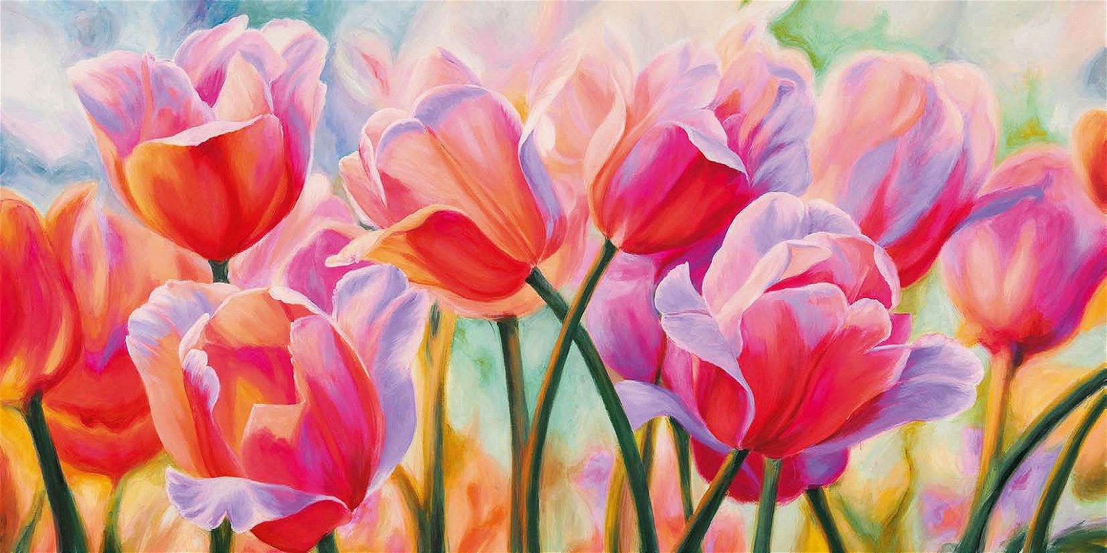 Cuadro canvas tulips in wonderland