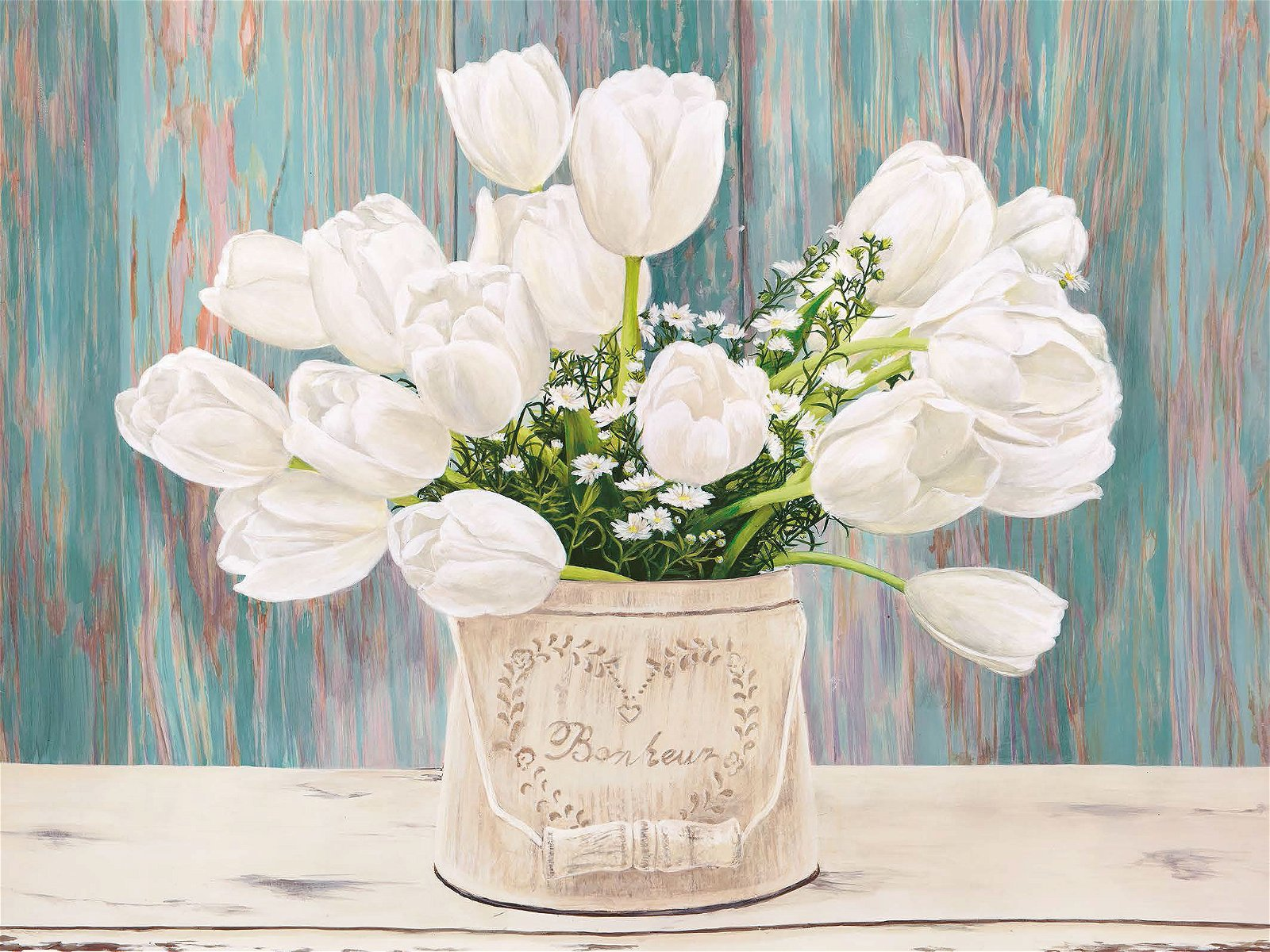 Cuadro canvas country bouquet