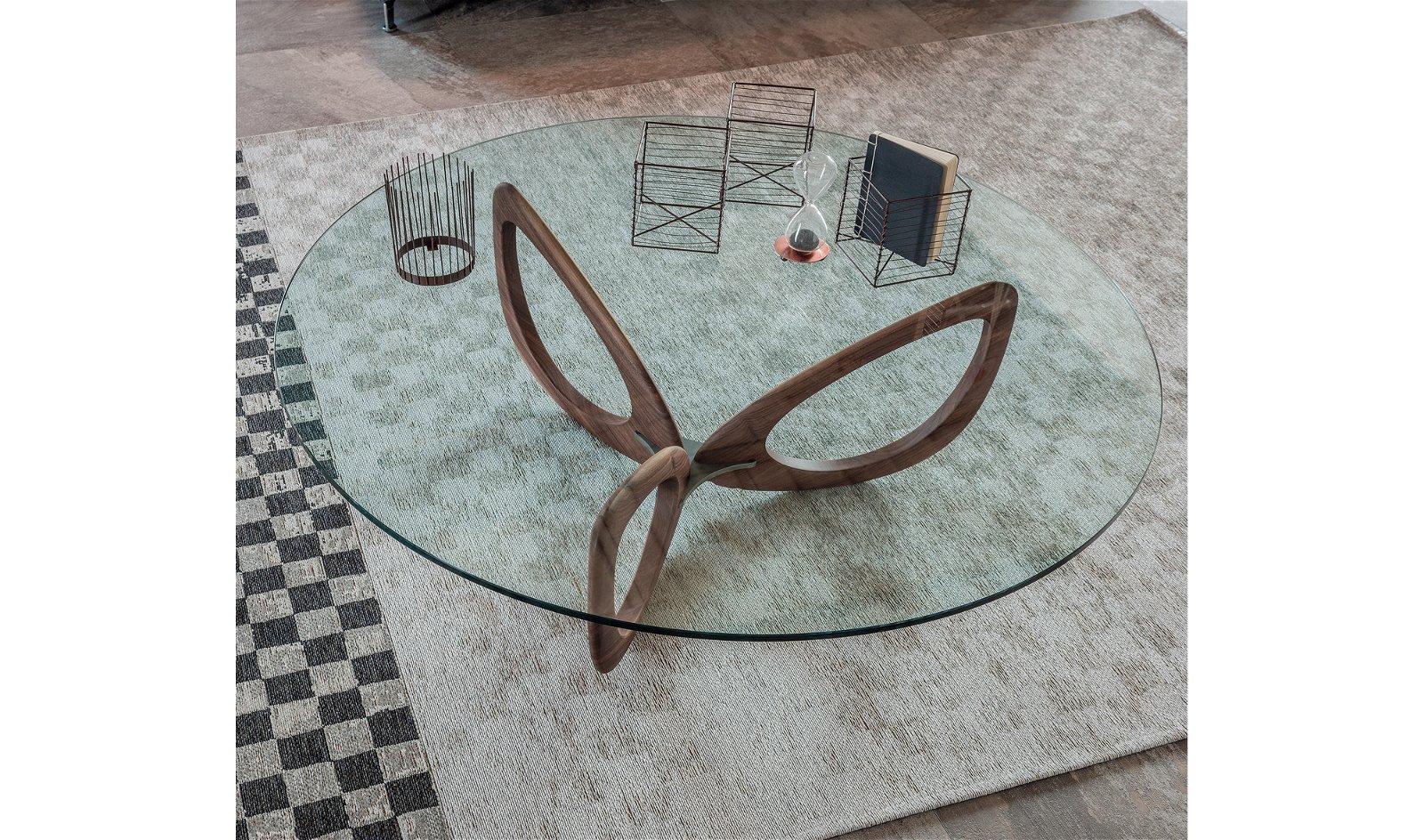 Mesa de centro redonda moderna Helix