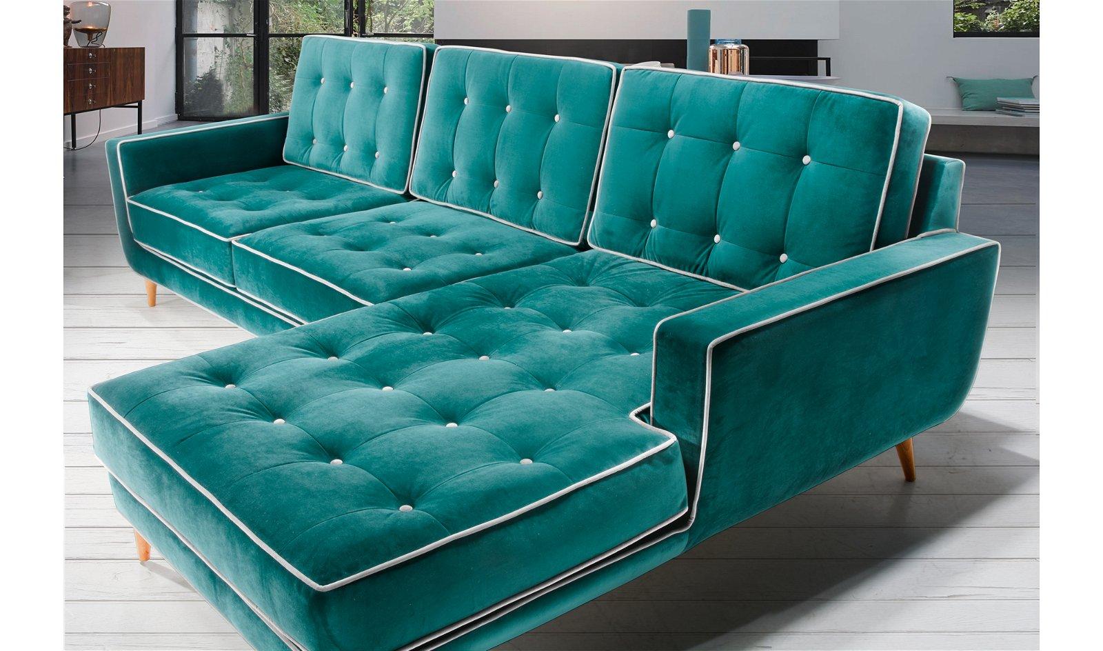 Sofá con chaise longue retro Sterling Cooper