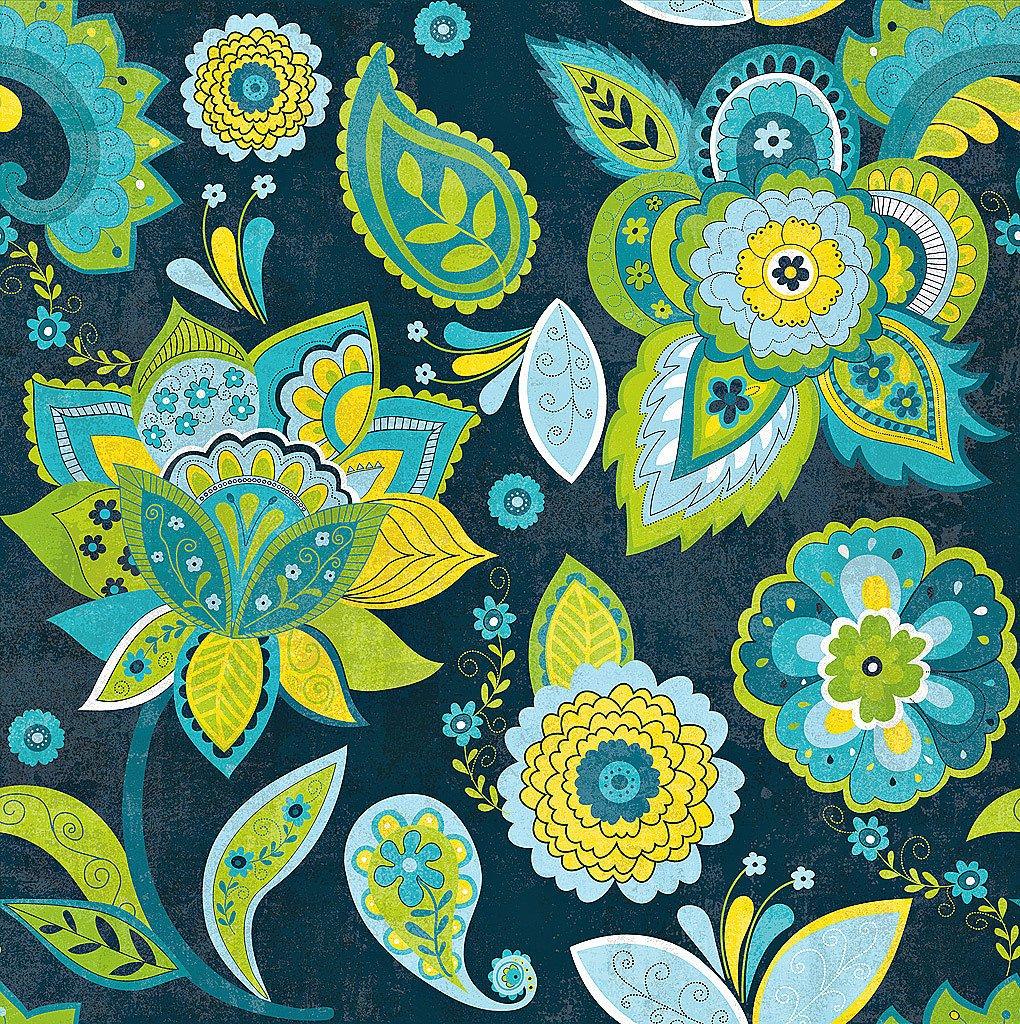 Cuadro canvas fun florals indigno crop