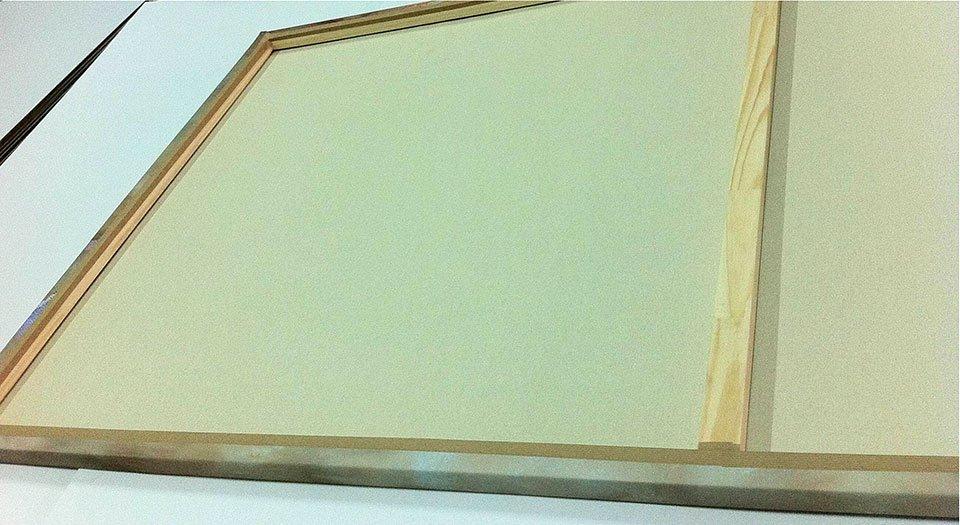 Cuadro canvas gilded gray III