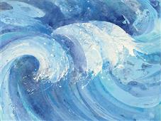 Cuadro canvas the big wave