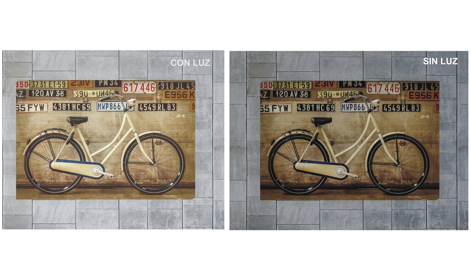 Cuadro retro iluminado vintage bike