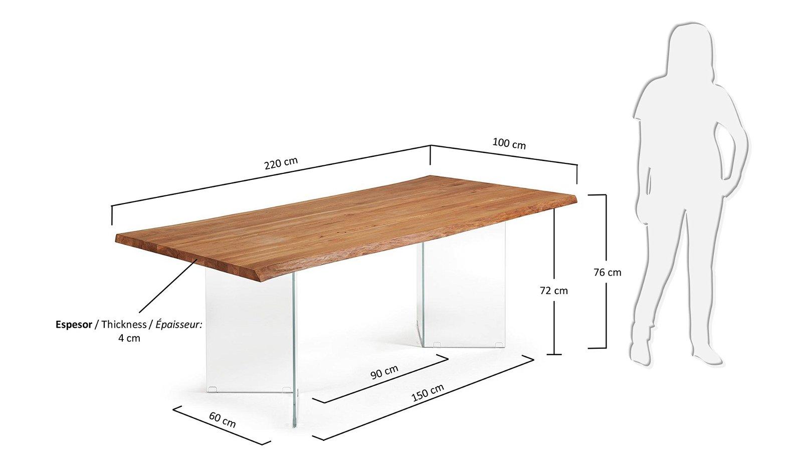 Mesa de comedor roble natural Lotty