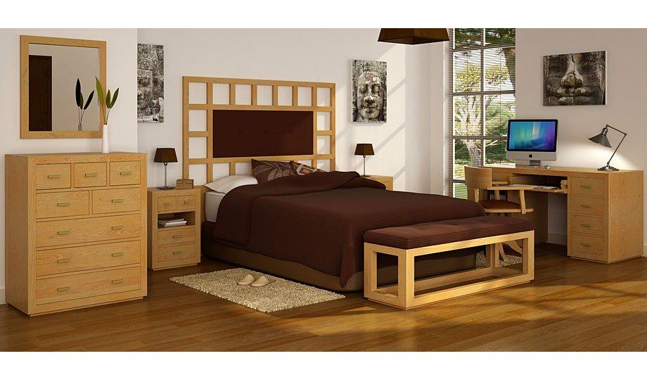 Dormitorio tapizado colonial Manhattan