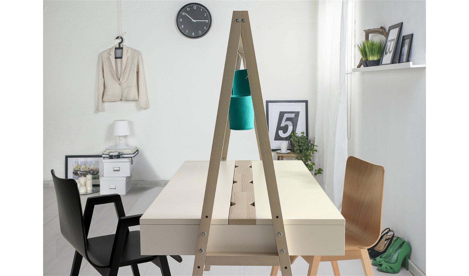 Mesa de escritorio 2 caras acacia nórdica Spoty