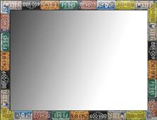 espejo marco matriculas