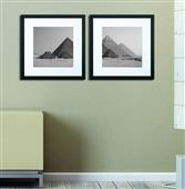 Cuadro blanco y negro piramides