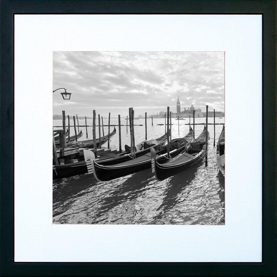 Cuadro blanco y negro Venecia