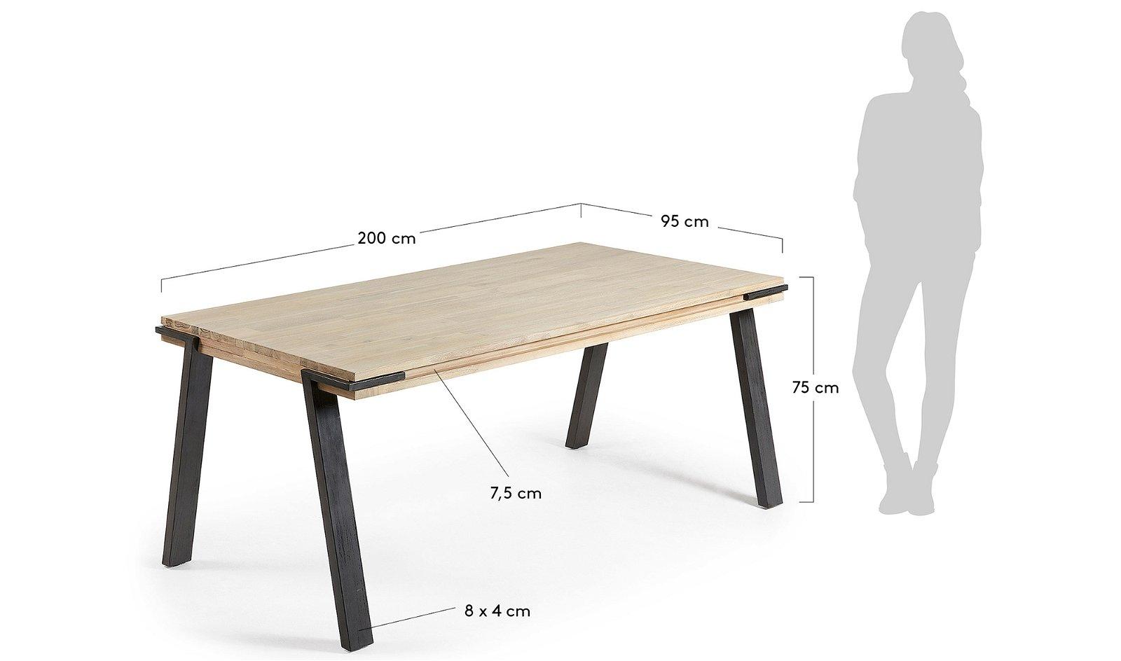Mesa de comedor nórdica Disset