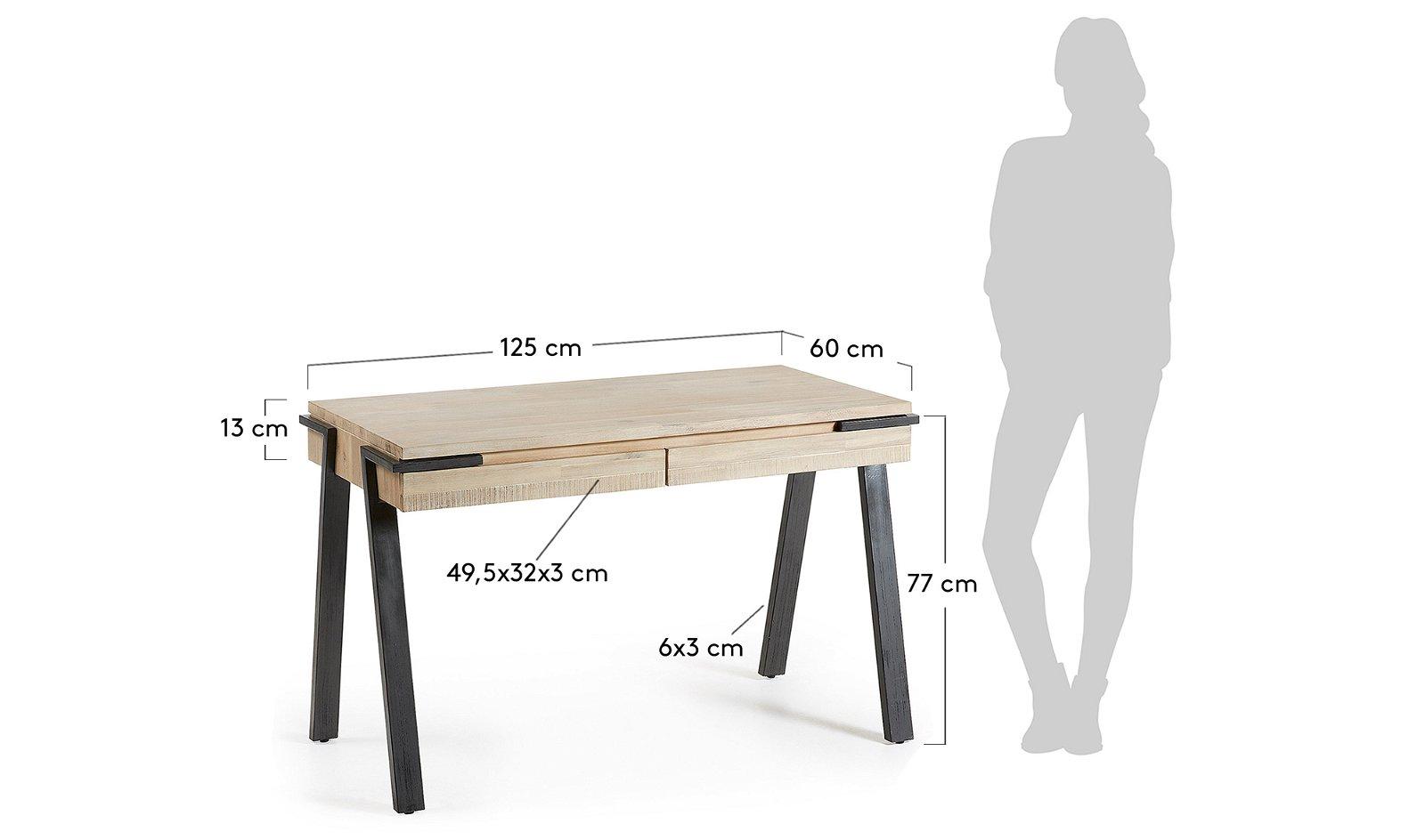 Mesa de escritorio nórdica Disset