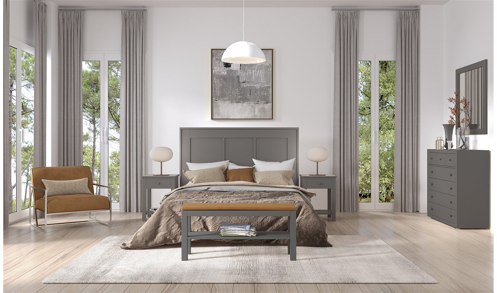Dormitorio castaño Long Island