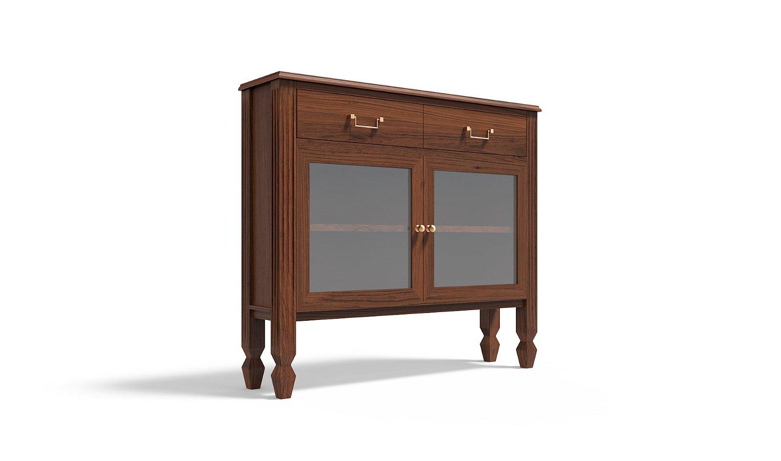 Mueble de entrada 2 puertas colonial Brookling