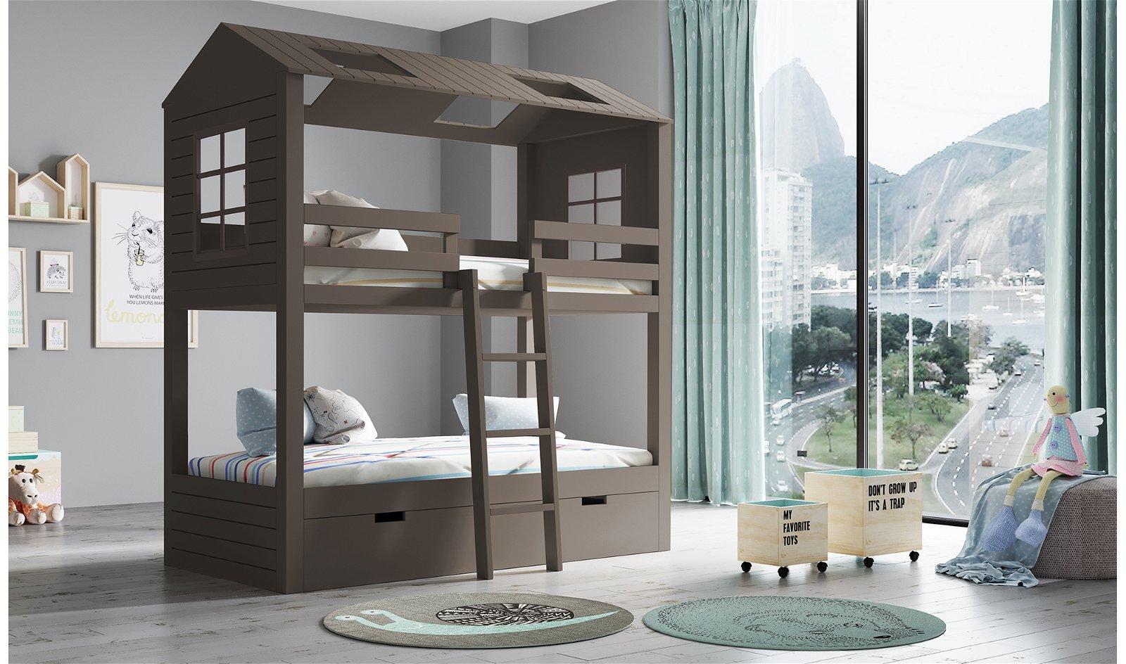 Litera infantil 3 camas 2 aguas Casita