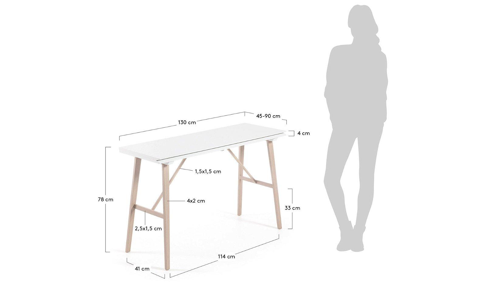 ARYON Consola mesa natural