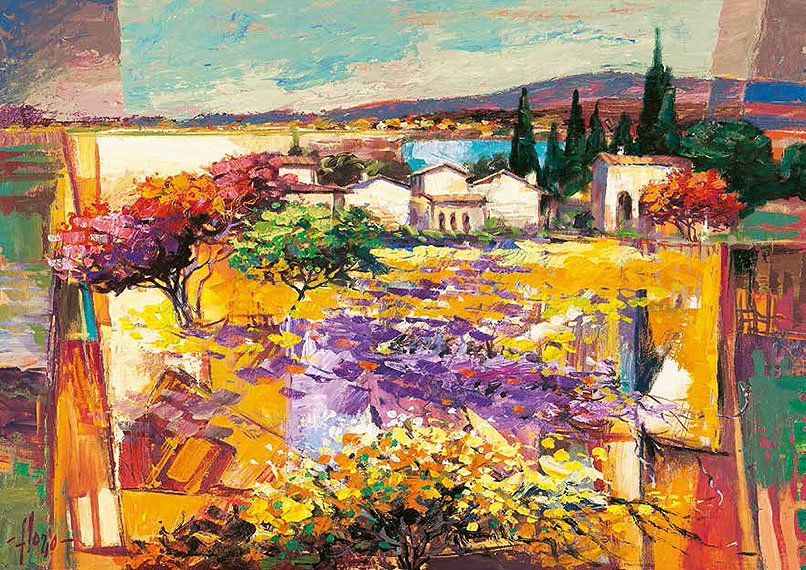 Cuadro canvas estate mediterranea