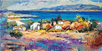 Cuadro canvas costa mediterranea