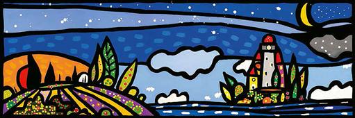 Cuadro canvas isola e luna