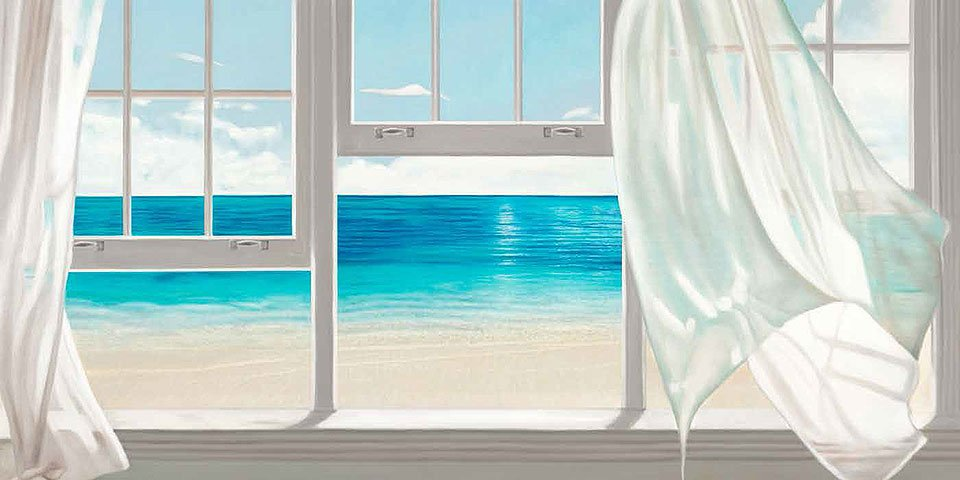 Cuadro canvas emerald seascape