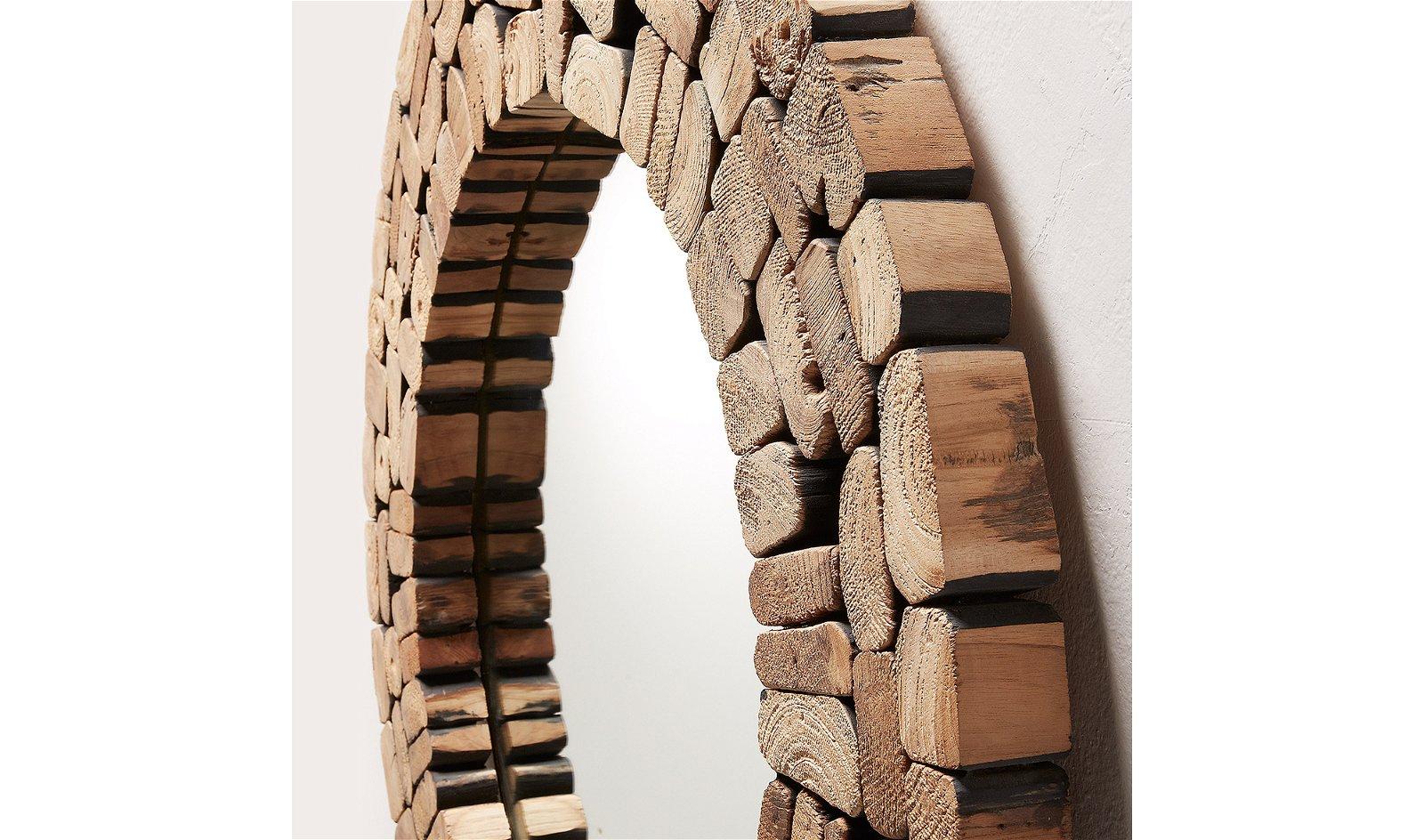 Espejo madera reciclada Ellipse