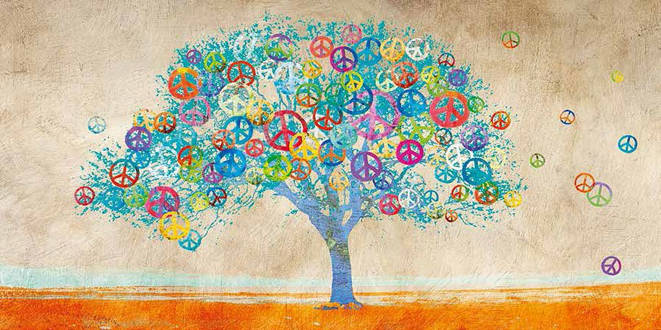 Cuadro canvas tree of peace