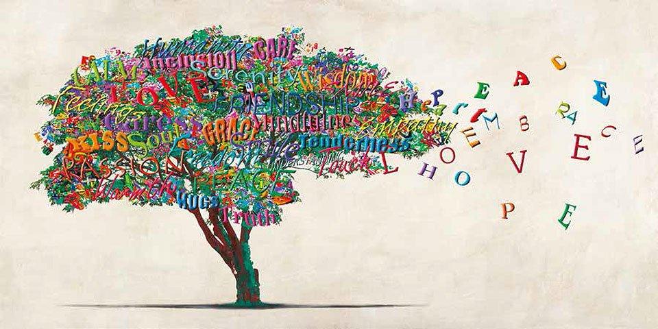 Cuadro canvas tree of humanity