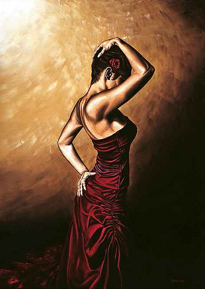 Cuadro canvas flamenco woman