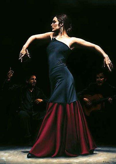 Cuadro canvas encantado por flamenco