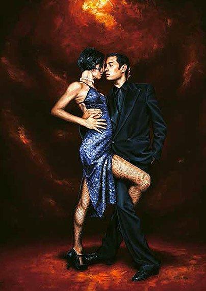 Cuadro canvas held in tango