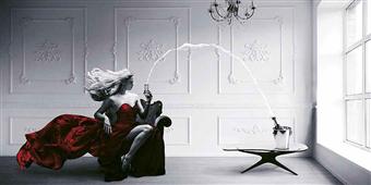 Cuadro canvas champagne zoom