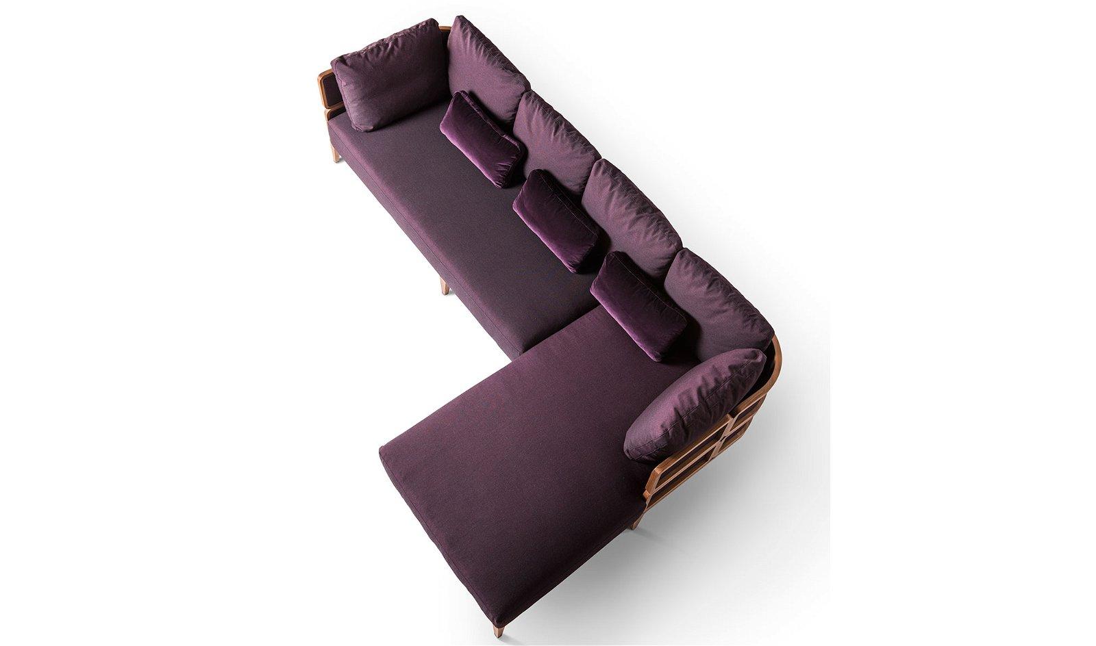 Sofá con chaise longue Gebrüder Thonet Promenade