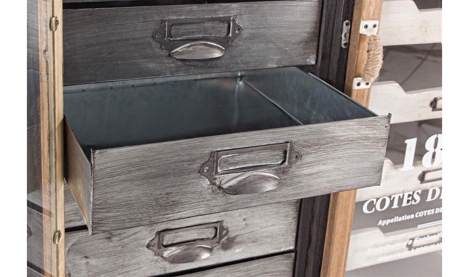 Mueble auxiliar 2 puertas 5 cajones vintage Sixtem