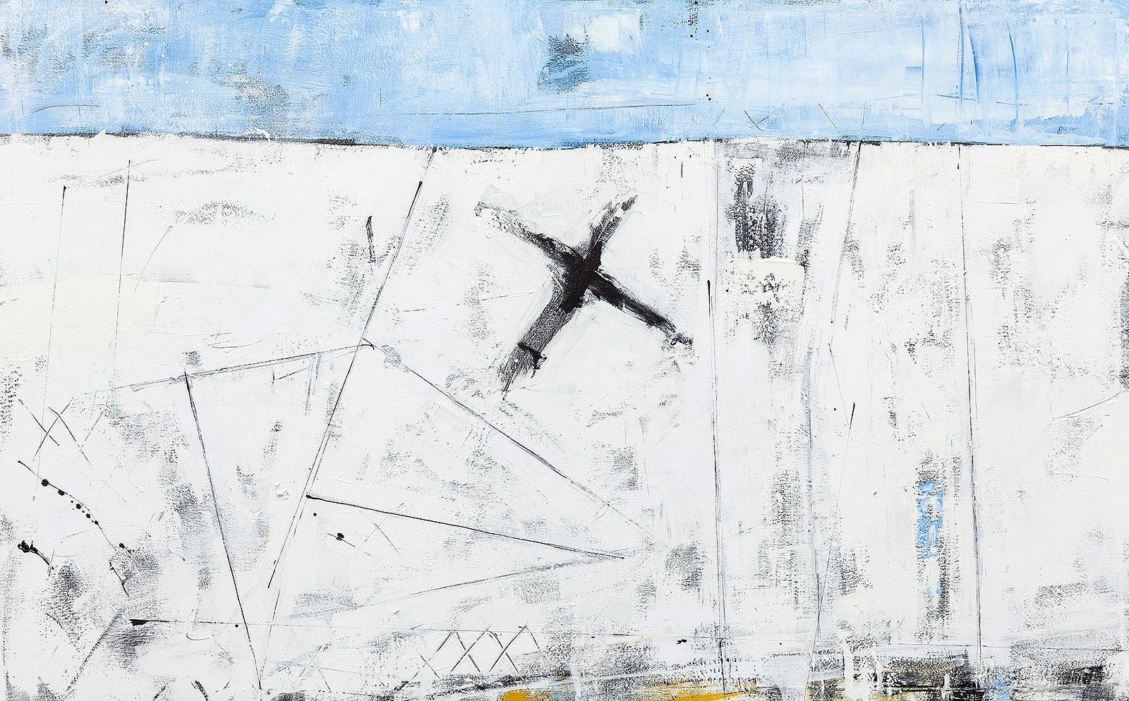 Cuadro abstracto gila dos ocho