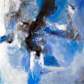 Cuadro abstracto pala trece