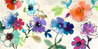 Cuadro canvas floral fantasy