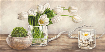 Cuadro canvas flores arrangement with tulips