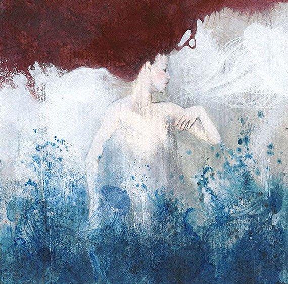 Cuadro canvas posado mermaid