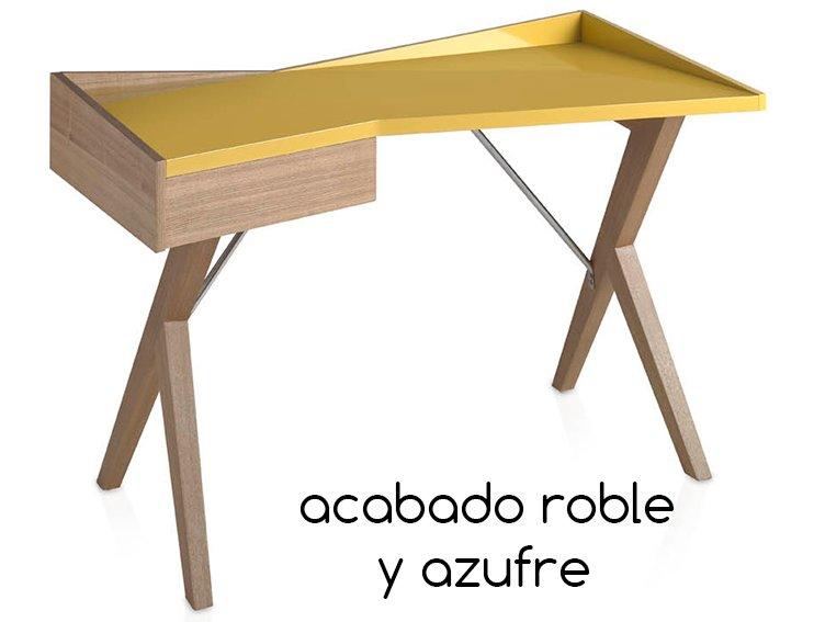 Mesa de escritorio nogal Zenli