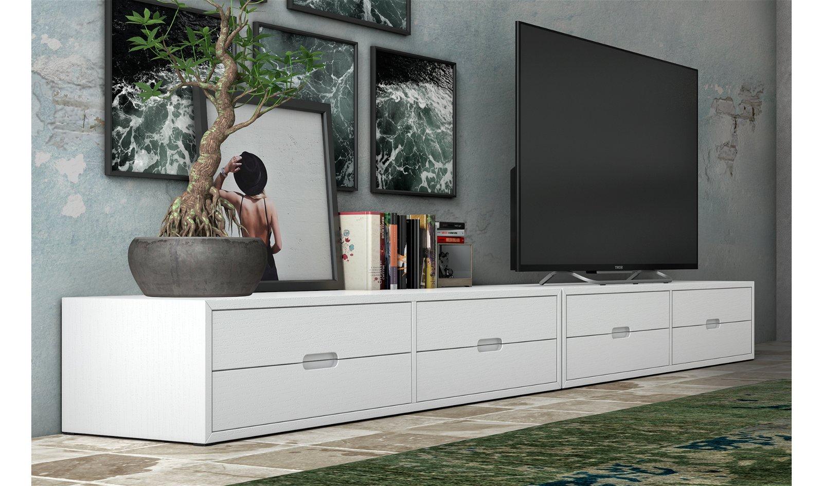 Mueble tv bajo industrial Loft