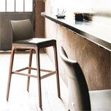 Taburete bar y cocina tapizado Arcadia Cattelan Italia