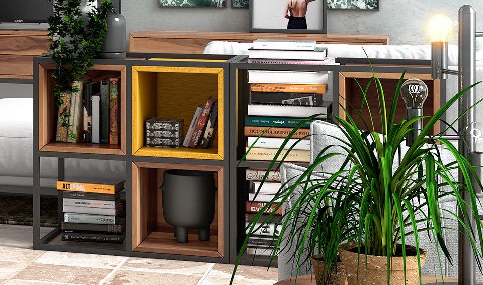 Librería industrial Loft