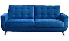 Sofá retro PANTONE 19_4052 Classic Blue Sterling Cooper