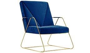 Butaca PANTONE 19_4052 Classic Blue Ospina Gold