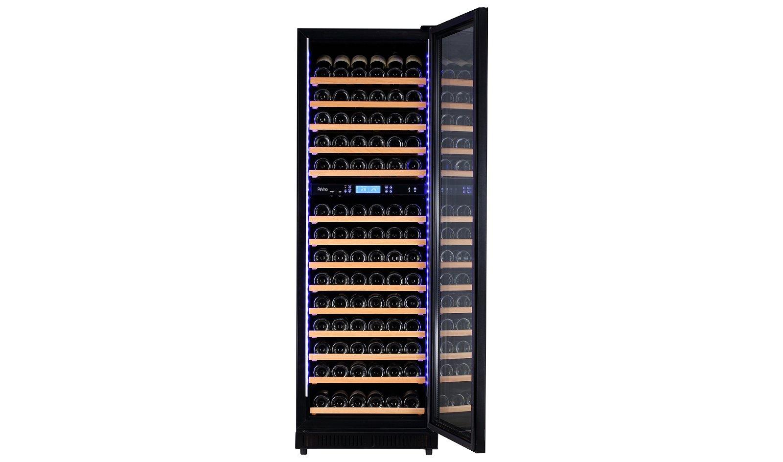 Vinoteca 210 botellas negra con 2 zonas de temperatura